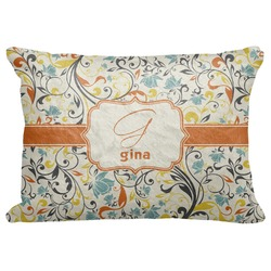 """Swirly Floral Decorative Baby Pillowcase - 16""""x12"""" (Personalized)"""