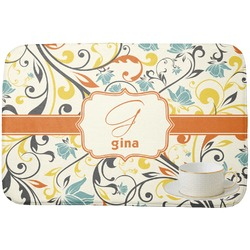 Swirly Floral Dish Drying Mat (Personalized)