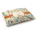 Swirly Floral Dog Bed (Personalized)