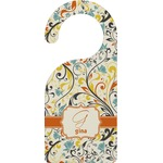 Swirly Floral Door Hanger (Personalized)