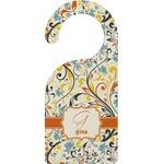 Swirly Floral Door Hanger (Personalized)