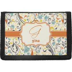 Swirly Floral Trifold Wallet (Personalized)