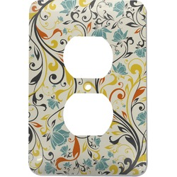 Swirly Floral Electric Outlet Plate (Personalized)