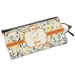 Swirly Floral Genuine Leather Eyeglass Case (Personalized)