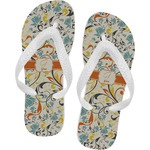 Swirly Floral Flip Flops (Personalized)