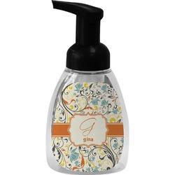Swirly Floral Foam Soap Dispenser (Personalized)