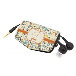 Swirly Floral Genuine Leather Cord Wrap (Personalized)