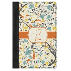 Swirly Floral Genuine Leather Passport Cover (Personalized)