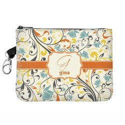 Swirly Floral Golf Accessories Bag (Personalized)