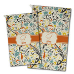 Swirly Floral Golf Towel - Full Print w/ Name and Initial