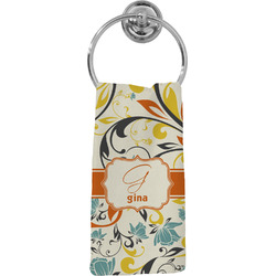 Swirly Floral Hand Towel - Full Print (Personalized)