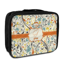Swirly Floral Insulated Lunch Bag (Personalized)