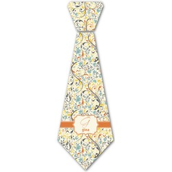 Swirly Floral Iron On Tie (Personalized)