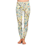 Swirly Floral Ladies Leggings (Personalized)