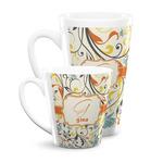 Swirly Floral Latte Mug (Personalized)