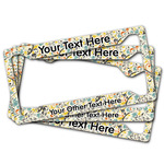 Swirly Floral License Plate Frame (Personalized)