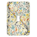 Swirly Floral Light Switch Cover (Single Toggle) (Personalized)