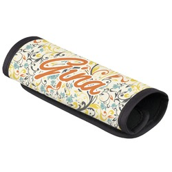 Swirly Floral Luggage Handle Cover (Personalized)