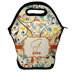Swirly Floral Lunch Bag (Personalized)
