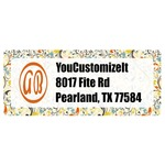 Swirly Floral Return Address Labels (Personalized)