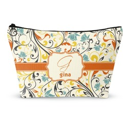 Swirly Floral Makeup Bags (Personalized)