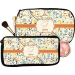 Swirly Floral Makeup / Cosmetic Bag (Personalized)