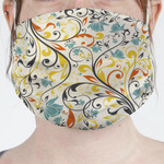 Swirly Floral Face Mask Cover (Personalized)