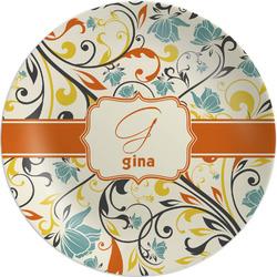 Swirly Floral Melamine Plate - 8