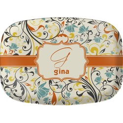 Swirly Floral Melamine Platter (Personalized)