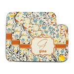 Swirly Floral Memory Foam Bath Mat (Personalized)