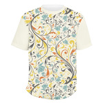 Swirly Floral Men's Crew T-Shirt (Personalized)