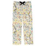 Swirly Floral Mens Pajama Pants (Personalized)