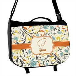 Swirly Floral Messenger Bag (Personalized)
