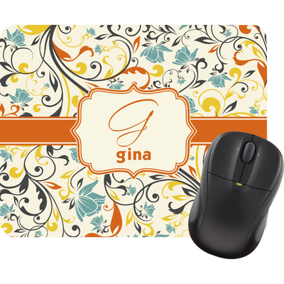 Swirly Floral Mouse Pads (Personalized)