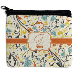 Swirly Floral Rectangular Coin Purse (Personalized)
