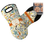 Swirly Floral Neoprene Oven Mitt (Personalized)