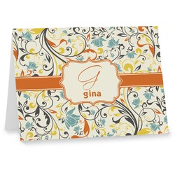 Swirly Floral Notecards (Personalized)