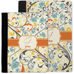 Swirly Floral Notebook Padfolio w/ Name and Initial
