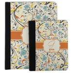 Swirly Floral Padfolio Clipboard (Personalized)