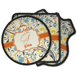 Swirly Floral Iron on Patches (Personalized)