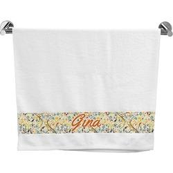 Swirly Floral Bath Towel (Personalized)