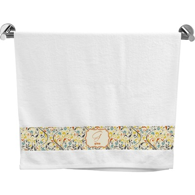 Swirly Floral Bath Towel (Personalized)