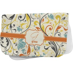 Swirly Floral Burp Cloth (Personalized)