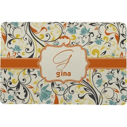 Swirly Floral Comfort Mat (Personalized)