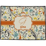 Swirly Floral Door Mat (Personalized)