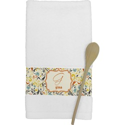 Swirly Floral Kitchen Towel (Personalized)