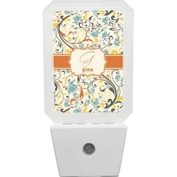 Swirly Floral Night Light (Personalized)