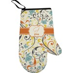 Swirly Floral Oven Mitt (Personalized)