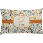 Swirly Floral Pillow Case (Personalized)