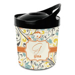 Swirly Floral Plastic Ice Bucket (Personalized)